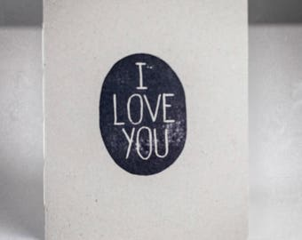 Small Field Notebook, Soft White Paper – I Love You