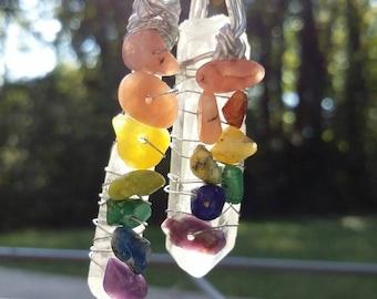 Magical rainbow pendant necklace.