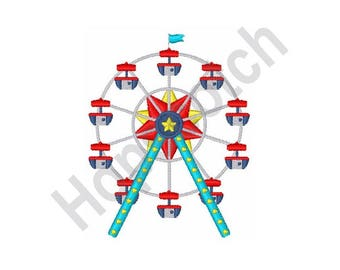 Ferris Wheel - Machine Embroidery Design