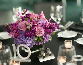 Art deco wedding table numbers, wedding reception signs art deco numbers, Wedding table decor -Gatsby style table numbers