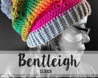 Crochet Pattern // Bentleigh Slouch // Easy