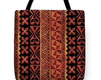 African Tribal Design Tote Bag Gift - Tribal Decorative Throw Pillow Gift - African Decorative Textile Throw Pillow - HouseWarming Gift Bag