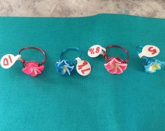 Lilly flower wire wrapped rings.