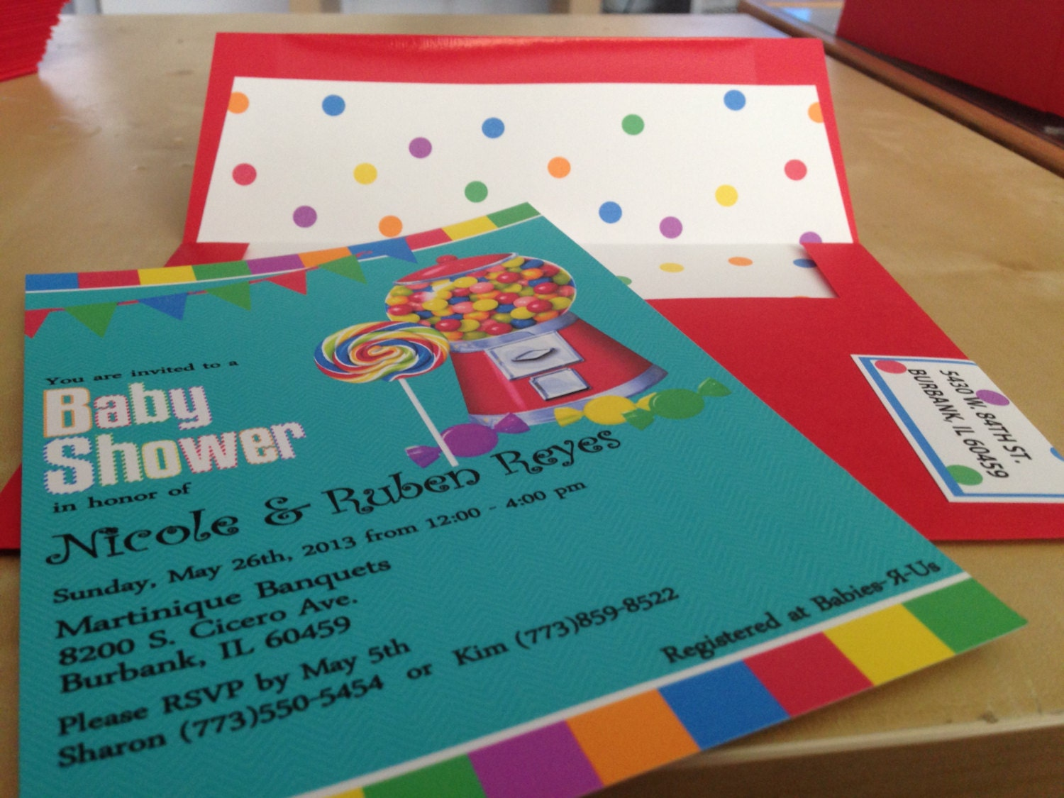 Colorful Birthday Party Invitations with Candy Theme