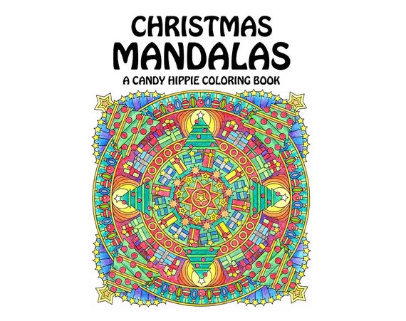 Christmas Mandalas Coloring Book printable adult coloring