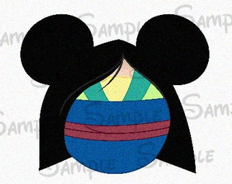 Mulan inspired Character DIGITAL printable Mickey head file DIY