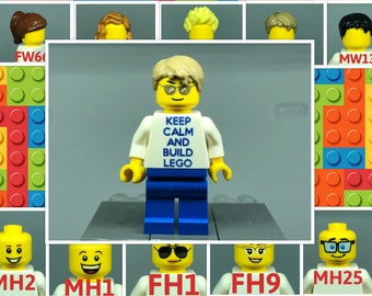 Keep Calm Build your own Minifig made with Lego! Look at ALL PICS for options!