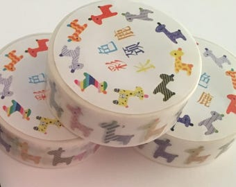 Giraffe Washi Tape, Giraffe Stationery, Animal Washi Tape, Bright Washi Tape, Rainbow Washi Tape, Washi for Planner