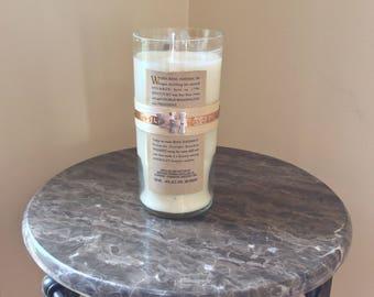 Basil Hayden Bourbon Whiskey Bottle Candle