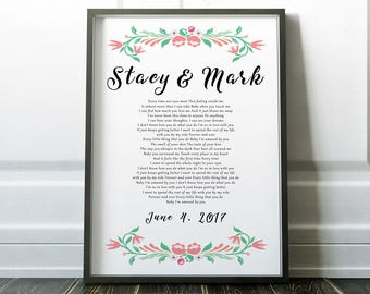 Amazed lyrics etsy amazed lonestar wedding song lyric art unique wedding gift unique bridal shower gift gift stopboris Images