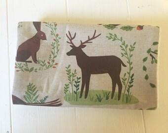 Handmade Woodland Burp Cloth