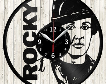 Rocky Vinyl Record Wall Clock Handmade Art Decor Your Room Original Gift 1560
