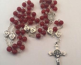 Natural Carnelian Rosary