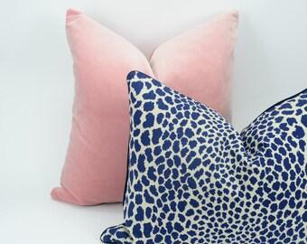 blue leopard print pillow // leopard print cushion  // cheetah print pillow // blue pillow cover