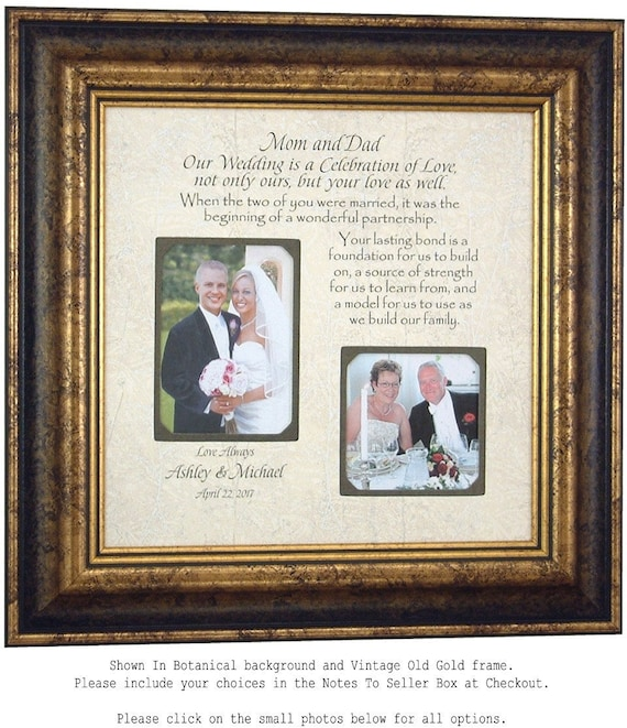 Personalized Wedding Frame for Parents of the Bride Parents