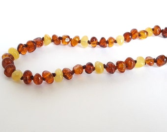 Honey cognac baltic amber teething necklace amber necklace for babies cognac honey amber teething necklace amber children necklace baby gift