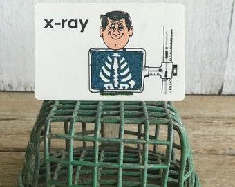 Vintage 1970s Flash Card // X-ray