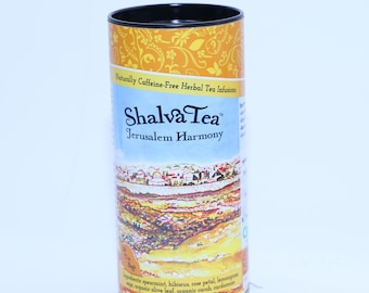 """ShalvaTea """"Jerusalem Harmony"""" Herbal Teas from the Land of Israel, with Lemongrass, Hibiscus, Spearmint, Rose & more..."""