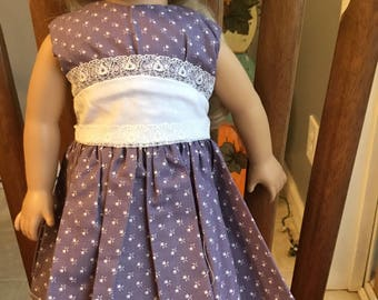 """Vintage style party dress fits 18"""" dolls such as American girl"""