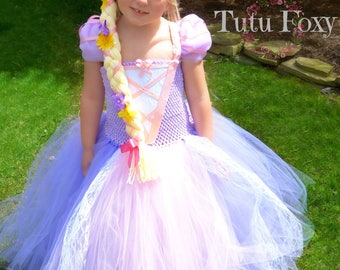 Princess Costume, Rapunzel Tutu Dress, Rapunzel Dress,  Rapunzel Costume, Princess Dress, Princess Tutu Dress, Rapunzel Birthday Outfit