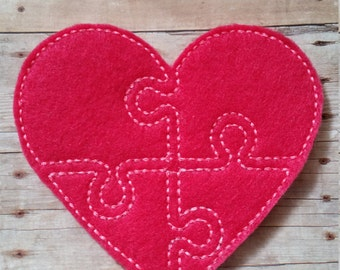 Heart Felt Puzzle, Toddler Puzzle, Valentine's Day Puzzle