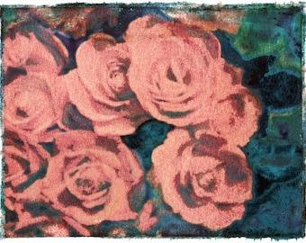 Rose Landscape Transfer Color photograph Print