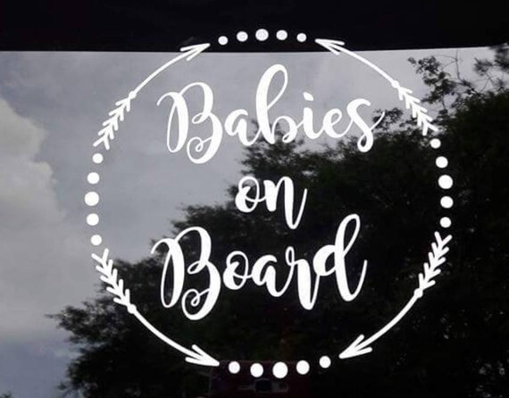 Babies on board car decal baby on board car decal mom car