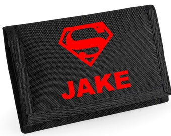Personalised Superman Wallet - *Choice of colours*