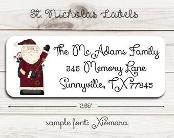 St. Nicholas Return Address Labels