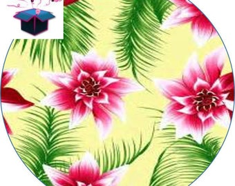 1 cabochon clear 30 mm tropical theme