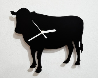 Cow  Silhouette - Wall Clock