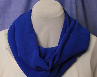 Infinity Scarf, Royal Blue, Chiffon