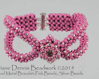 Kit for the Cool Metal Bracelet in Pink Metal Beads