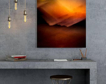 Extra large, Abstract Canvas, Large Canvas, XXL, Extra large wall art,Red and Orange, Canvas, Modern rustic, livingroom decor, home decor