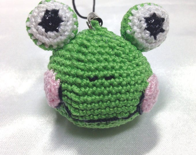 Frog keychain! all cotton