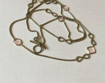 David Yurman pink rose quartz necklace