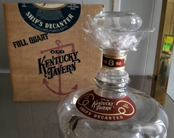 OLD Kentucky Tavern Decanter and Box