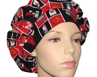 Scrub Hats - Chicago Bulls Basketball Fabric