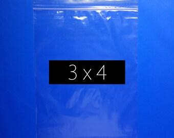 400 3x4 Inch Zip Lock Bag Recloseable Ziplock Plastic Bag Reuseable