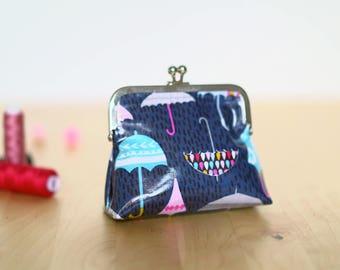 Retro purse blue patterned umbrellas (CLASP 10 cm)