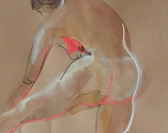 Nude #1531- original watercolor painting by Gretchen Kelly