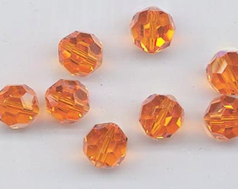 Twelve non-standard Swarovski crystals - Art. 5000 - 10 mm - sun AB