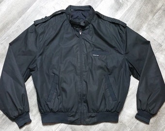 Vintage Members Only Black Iconic Racer Jacket size 42