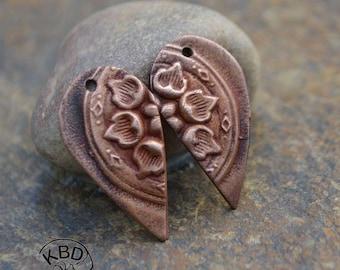 Copper Split Flower Drop Component (1 pair)