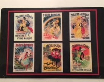 Vintage French Theatre Poster Placemats