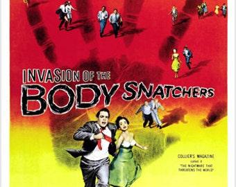 1956 Original Invasion Of The Body Snatchers Movie Poster Sci-fi Rare 24x36