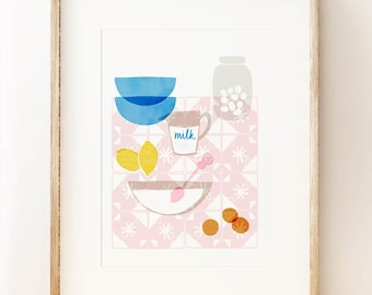Portuguese Kitchen - wall art print