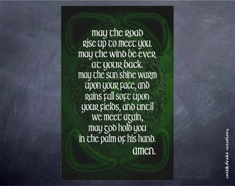May the Road Rise Up Irish Blessing Celtic Digital Printable