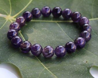Amethyst Bracelet, Crown Chakra Bracelet, Spiritual Gift, Spiritual Jewelry, Spiritual Bracelets, Amethyst jewellery, gift-for-woman