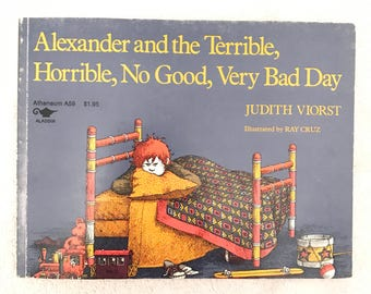 Vintage Alexander And The Terrible Horrible No Good Very Bad Day Books